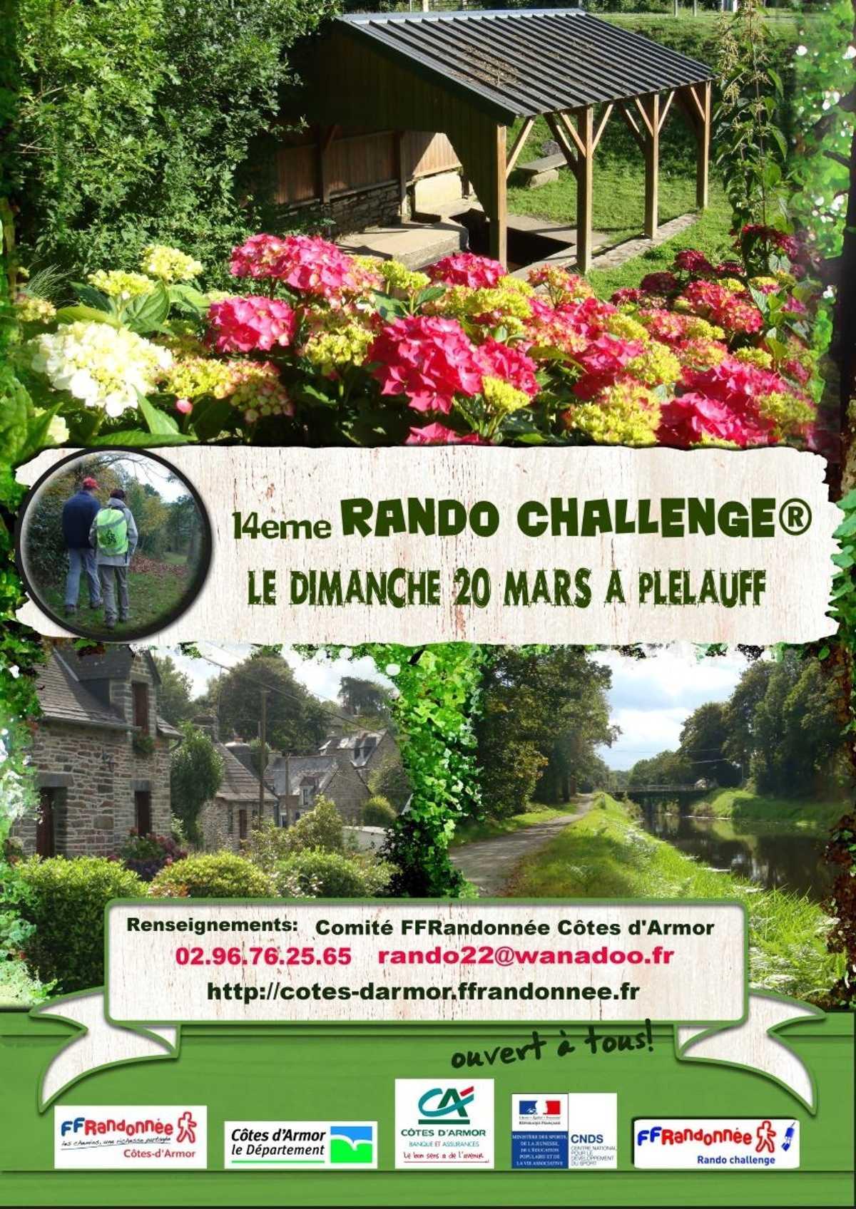 RANDO CHALLENGE 2016 - PLELAUFF -